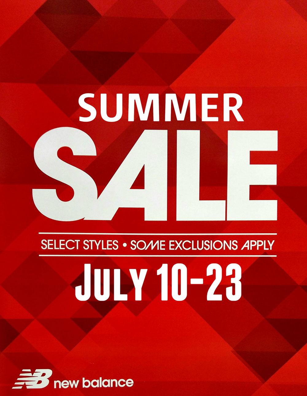 Summer Sale at New Balance - Oakville Shops