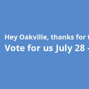 Hey Oakville, thanks for the nomination!