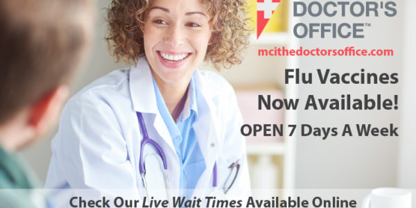 Get Your Flu Shot at MCI The Doctor's Office Walk-in Clinic