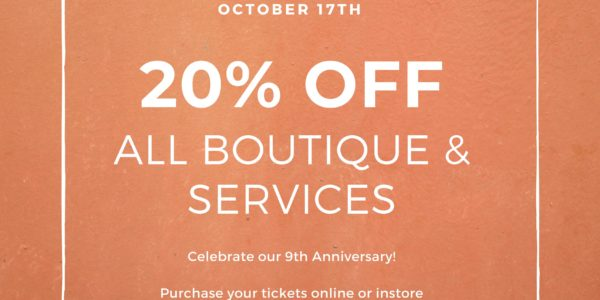 Mirage Esthetics Spa Anniversary Party October 17th